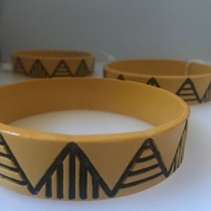 New Anthropologie Resin Graphic Bangle Bracelet